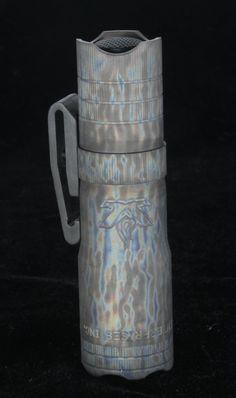 LensLight Mini Titanium Striderized - Dual Output LED Flashlight