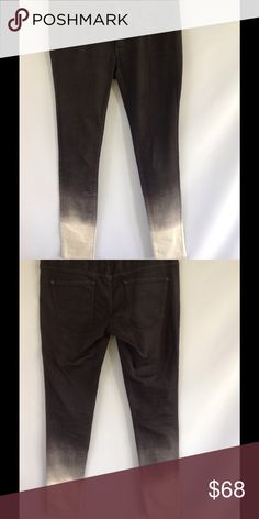 Armani Exchange Black & White Ombré Denim Super trendy skinny denim. Ombré design from black to white. Excellent condition! A/X Armani Exchange Jeans Skinny
