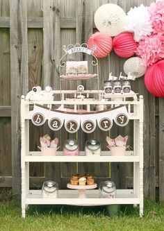 "Photo 1 of Bakery and Sweet Shoppe / Play Date Party ""Little Bake Shop"" Girl Birthday, Birthday Parties, Theme Parties, Birthday Ideas, Baking Party, Cupcake Party, Project Nursery, Party Guests, Baby Shower Parties"