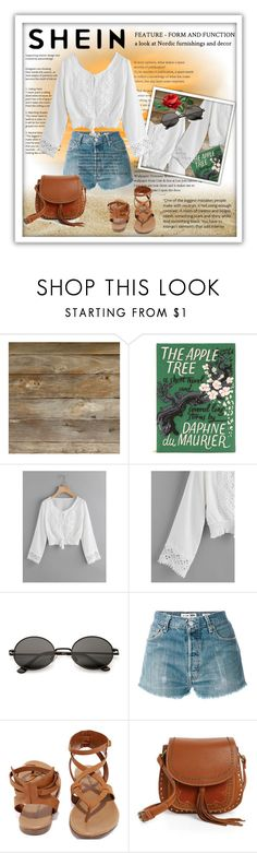 """""""SHEIN"""" by banhary ❤ liked on Polyvore featuring Olympia Le-Tan, RE/DONE, Breckelle's and Shiraleah"""