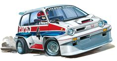 Honda CITY TURBO(TAMIYA WR-02C CHASSIS)