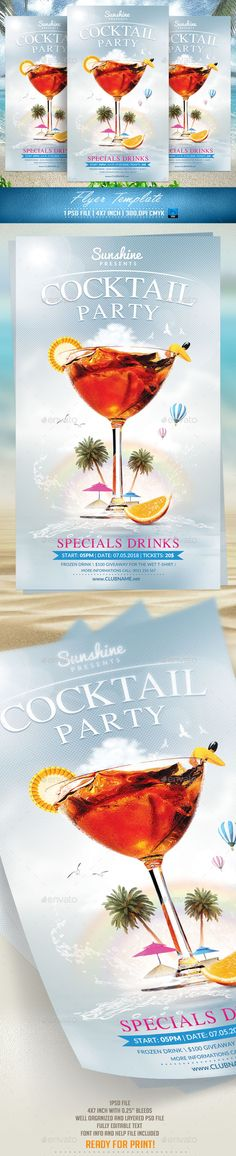 Cocktail Party Flyer Template v2