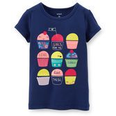 Colorful cupcakes are perfect for a birthday party! She can dress this tee up with a skirt or wear it with jeans for a casual style.<br>