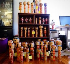 #Koenjivintage has what is probably the largest #vintage #kokeshi collection in #melbourne. Available soon @lostandfoundmarket #brunswick #collectibles #ornaments #japan