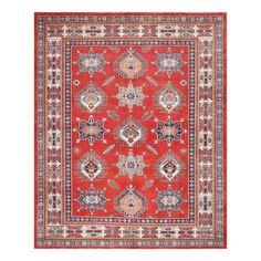 Herat Oriental Afghan Hand-knotted Tribal Vegetable Dye Super Kazak Red/ Rug
