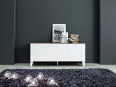 Foldy High Gloss Italian Sideboard Choice of Door and Frame Colour