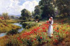 Walbourn, Ernest Flores do Campo Canvas Wall Art, Wall Art Prints, Fine Art Prints, Renoir, Farm Women, Portraits, Farm Yard, Imagines, Wild Flowers