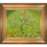 Overstockart Kl2477-Fr-446G20X24 Klimt The Apple Tree with Mediterranean Gold Frame, Gold Finish - #art #artwork #popularartwork #paintings #homedecor -   Hand painted oil reproduction of a famous klimt painting, the apple tree. Today it has been car