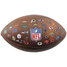 Wilson Nfl Jr Throwback Fb 32 Team Logo American Football Ball - Brown – Videos.Images.Pictures