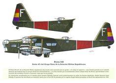Potez 54 con el código F Aquí te espero de la Aviación republicana 1936
