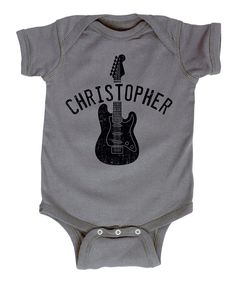 Look at this Charcoal Personalized Electric Guitar Bodysuit - Infant on #zulily today!