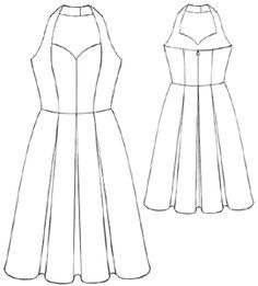 Free Pattern: Home / Women / Dresses / #5195 Ball-dress