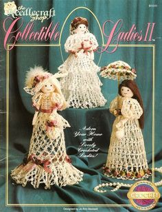 X889 Crochet PATTERN Book ONLy Collectible Ladies by BeadedBundles, $4.95
