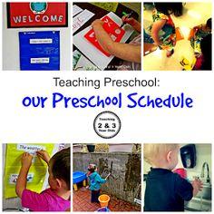 Our Preschool Morning Schedule