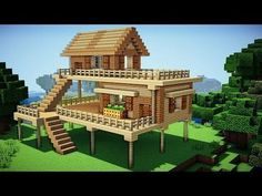 Minecraft: Starter House Tutorial - How to Build a House in Minecraft / . Minecraft: Starter House Tutorial - How to Build a House in Minecraft / . Minecraft Starter House, Minecraft Small House, Cute Minecraft Houses, Minecraft Houses Survival, Minecraft Houses Blueprints, Cool Minecraft, House Blueprints, Minecraft Buildings, Minecraft Cottage