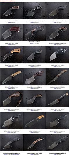 Custom Neck Knives by Stonewood Designs handmade Fixed Blade Knives Mais Cool Knives, Knives And Tools, Knives And Swords, Kydex, Trench Knife, Neck Knife, Best Pocket Knife, Knife Sheath, Knife Sharpening