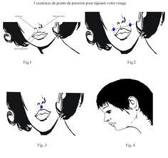 Exercices de points de pression pour rajeunir votre visage Acupuncture, Le Point, Massage, Movies, Movie Posters, Beauty, Pressure Points, Stuff Stuff, Acupressure