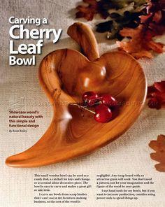 Carving Leaf Bowl - Wood Carving