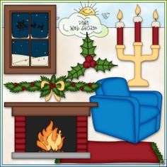 Cozy Christmas Decor 2 - NE Clip Art