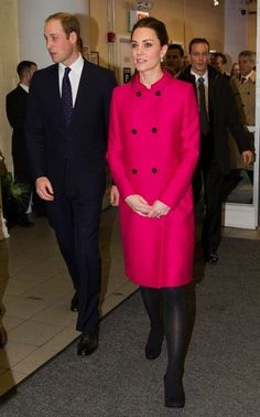 Kate Middleton in a bright pink coat in NYC