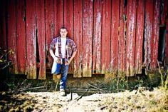 High school senior boy on his farm.