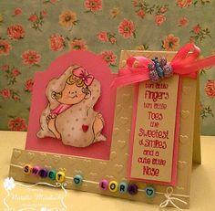 "ONECRAZYSTAMPER.COM: Sweet Baby by Natalie using  High Hopes Stamps ""Swaddled…"
