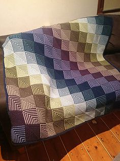 There are variations out there on mitred squares (on old technique): this is how i like to do them, and two successful colour combinations.