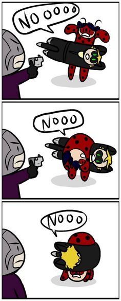 """Hawkmoth's just like """"...Is it even worth it to shoot them anymore? """" LOL"""