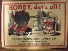Vintage Tin Sign, For Rocky Mountain Honey, Date Unknown
