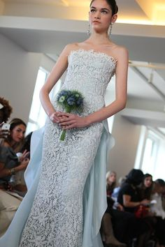 Daring Spring 2013 Bridal by Oscar de la Renta | OneWed - this is different and i love it