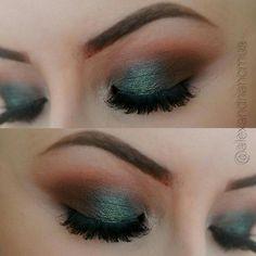 Green eyed look by Alexandria using Makeup Geek's Houdini foiled eyeshadow!