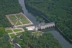 ✈️ Photo aérienne du Château de Chenonceau - Indre-et-Loire (37)