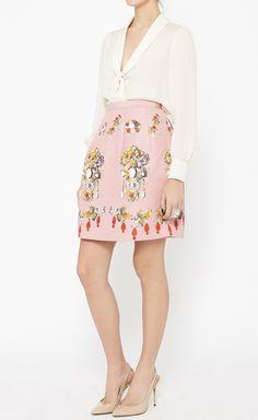 Oscar de la Renta Pink And Multicolor Skirt