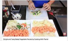Parcels of roasted vegetables. Children love them.