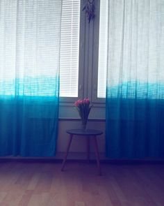 Dip dye curtains.