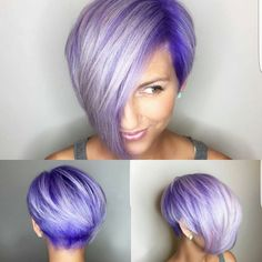 "5,446 Likes, 139 Comments - PixieCut  ShortHair  Blogger (@nothingbutpixies) on Instagram: ""Give me a name for @hairloveheather cut and color. Hmm ""Purple Rain"" """