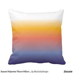 "Sunset Polyester Throw Pillow 16"" x 16"""