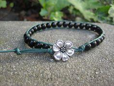 Black and Green Wrap Bracelet