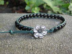 Black and Green Wrap Bracelet