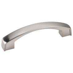 "Jeffrey Alexander [549-96SN] Die Cast Zinc Cabinet Pull Handle - Merrick Series - Standard Size - Satin Nickel Finish - 96mm C/C - 4 3/16"" L"