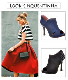 Como usar botinhas: Looks 50's Inspired  http://viroutendencia.com/2014/04/15/botas-de-cano-curto-outonoinverno-2014/
