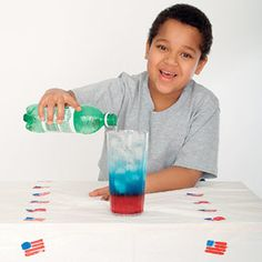 Patriotic Drink!  Cranberry Juice, Gatorade, and Diet 7-Up!