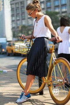 2015 Sokak Modasında Pileli Etek Kombinleri | Pimood | Mahmure Blog