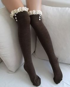 Gifts for Woman Personalized Gift for Women Legwarmers Knit Socks Winter Accessories Gift for Her Women's Fashion Big sale Brown Socks Boot socks leg warmersBig sale Brown Socks Boot socks leg warmers Legging Outfits, Fashion Socks, Fashion Outfits, Womens Fashion, Emo Fashion, Brown Socks, Beige Leggings, Hunter Boots Outfit, Lace Socks