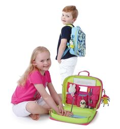 """Our friend Elina Furman recommends our TrayKit as a Top Travel Pick for Little Jet-Setters!  """"A perfect way for kids to entertain themselves in the car or on the plane, TrayKit transforms into a regular backpack when not in use."""""""