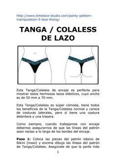 Tanga o Colaless de Lazo. Bikini Moldes, Fair Isle Knitting, Thongs, Cherries, Erika, Trousers, Easy, Blog, Clothes