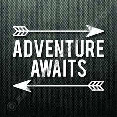 Adventure Awaits Bumper Sticker Vinyl Decal Car Truck Sticker Hiking Camping