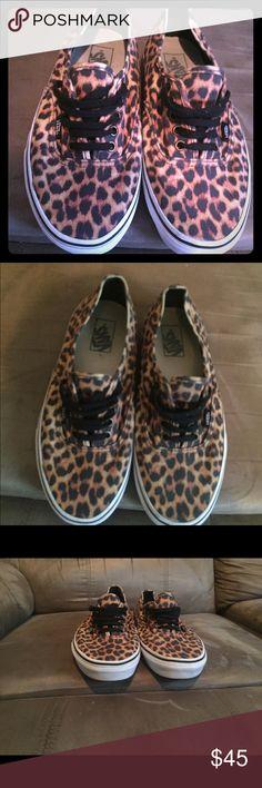 fe4d268d7d off when you bundle 5 items Cheetah print women s Vans size Gently used Vans  Shoes Sneakers