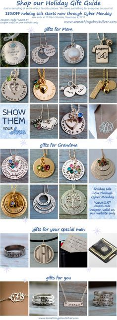 Hand Stamped Jewelry and Personalized Gifts SALE Cypber Monday