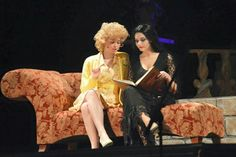 Christa Voirol & Alison Kennedy as Alice and Morticia in the Addam's Family.